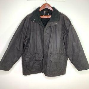 Barbour 2XL Vintage Classic Black Wax Coat Jacket